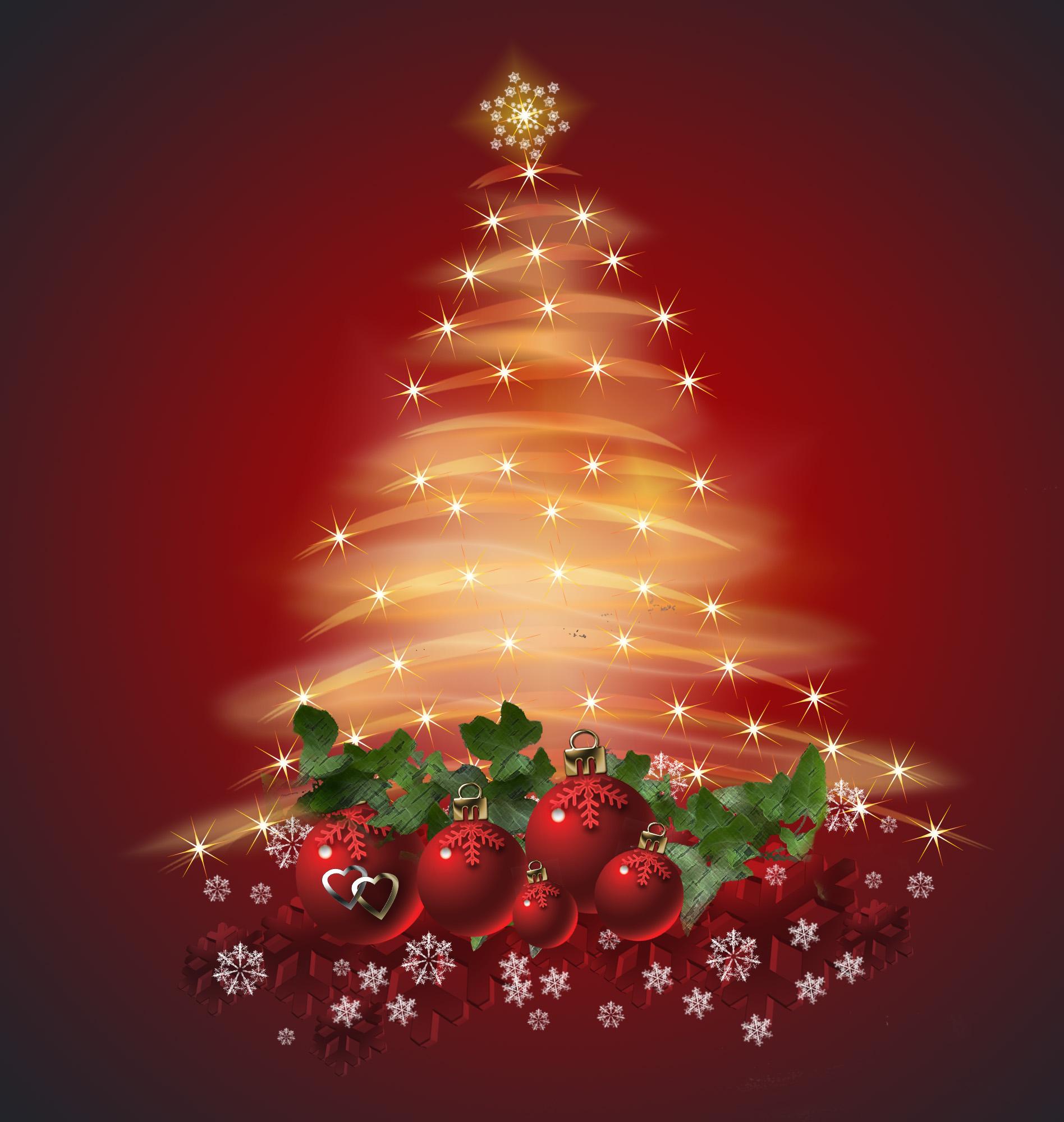 Новогодняя открытка с елкой и поздравлением, подруге скучаю
